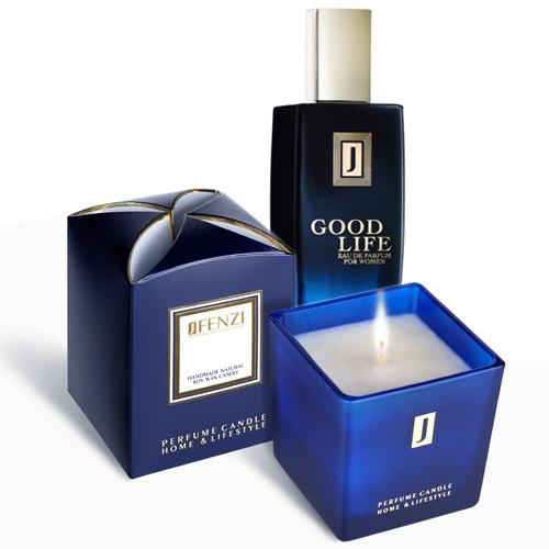 JFenzi handmade sójová parfumovaná sviečka 200g + EDP dámska 100ml Goog Life